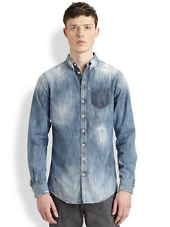DSQUARED - Pocket Shadow Carpenter Shirt