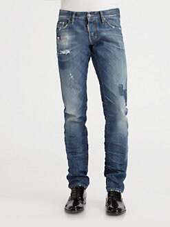 DSQUARED - Shadow Patch Slim-Fit Jeans