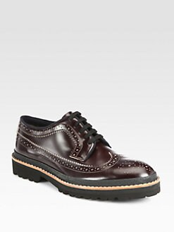 Marni - Leather Lace-Up Wingtips