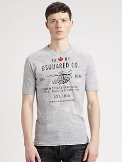 DSQUARED - Cotton Graphic Tee
