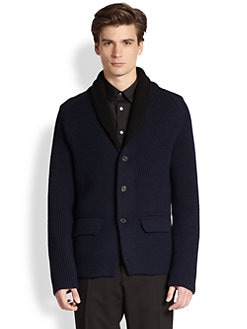 Jil Sander - Bi-Color Shawl Cardigan