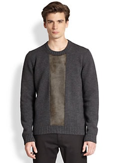 Jil Sander - Pony Hair Detail Crewneck Sweater