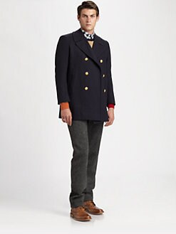 Band of Outsiders - Wool-Blend Peacoat