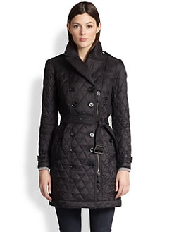Burberry Brit - Flynsbury Double-Breasted Quilted Coat