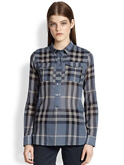 Burberry Brit - Woven Check-Pattern Tunic