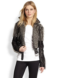 Burberry Brit - Blickling Leather Studded Jacket