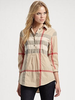 Burberry Brit - Check Henley Top