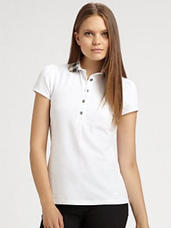 Burberry Brit - Check-Collar Polo Shirt