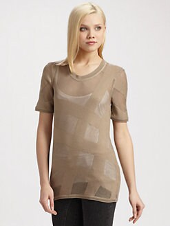 Burberry Brit - Silk/Wool Mesh Top