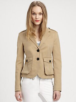 Burberry Brit - Cropped Peplum-Back Blazer