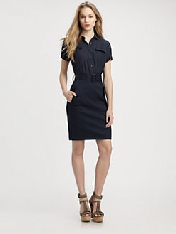 Burberry Brit - Belted Short-Sleeve Shirtdress