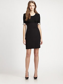 Burberry Brit - Jersey Check-Trim Dress