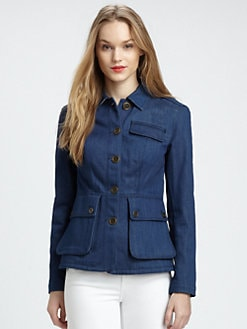 Burberry Brit - Peplum-Back Denim Jacket