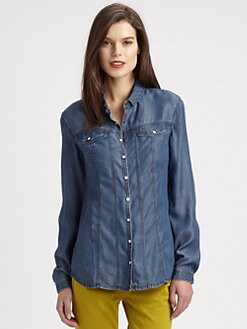 Burberry Brit - Snap-Front Denim Shirt
