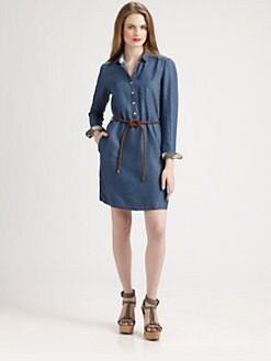 Burberry Brit - Washed Denim Shirtdress