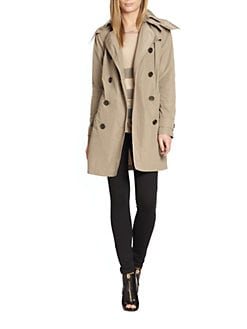 Burberry Brit - Lightweight Hooded Trench Jacket