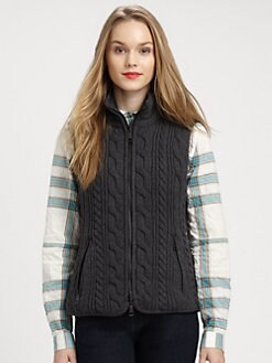 Burberry Brit - Cable Knit Vest