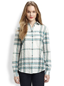 Burberry Brit - Textured Check Button-Down Shirt
