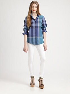 Burberry Brit - Tonal Check Button-Down Shirt