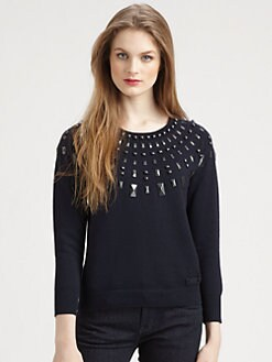 Burberry Brit - Stud-Embellished Sweatshirt