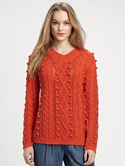 Burberry Brit - Popcorn Stitch Sweater