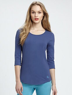 Burberry Brit - Scoopneck Jersey Top
