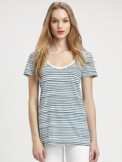 Burberry Brit - Striped Logo Tee