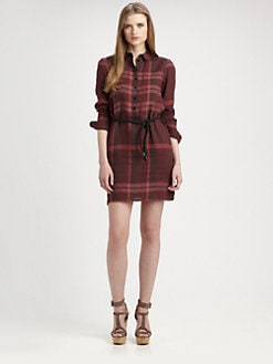 Burberry Brit - Linen Check Shirtdress