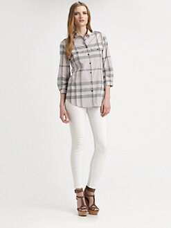 Burberry Brit - Cotton Check Blouse