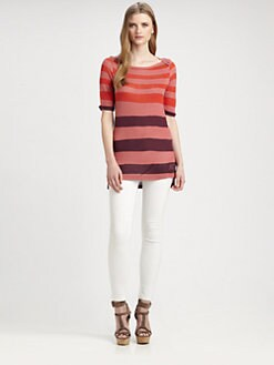 Burberry Brit - Striped Hi-Lo Tunic