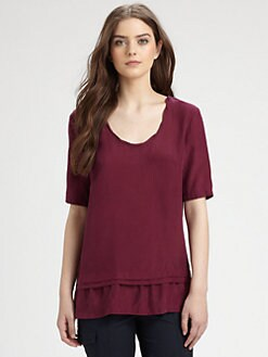 Burberry Brit - Brushed Silk Top