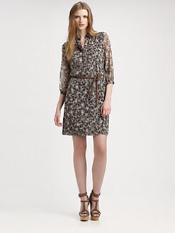 Burberry Brit - Silk Printed Shirtdress