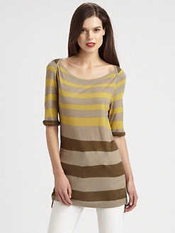 Burberry Brit - Striped Jersey Tunic Top