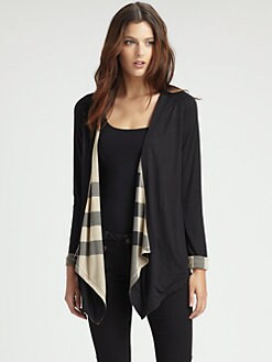Burberry Brit - Drape-Front Cardigan