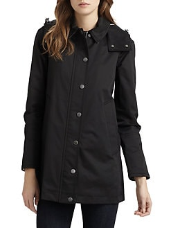 Burberry Brit - Hooded A-Line Raincoat