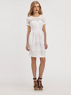 Burberry Brit - Cotton Eyelet Dress