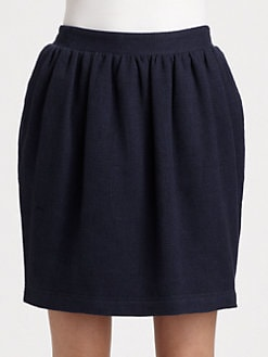Burberry Brit - Gathered Linen/Cotton Skirt