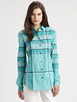 Burberry Brit - Checked Button-Down Shirt