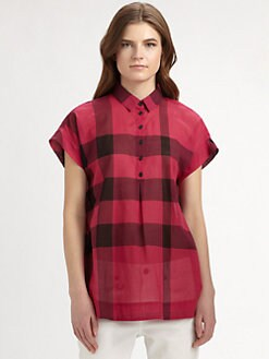 Burberry Brit - Plaid Cotton Shirt