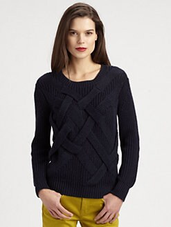 Burberry Brit - Cotton/Linen Basketweave Sweater