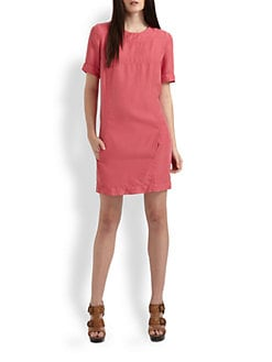 Burberry Brit - Washed Silk Shift Dress