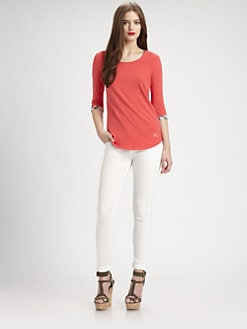Burberry Brit - Shirttail-Hem Tee
