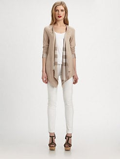 Burberry Brit - Open-Front Jersey Cardigan