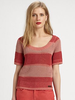 Burberry Brit - Cotton/Linen Shaker Sweater