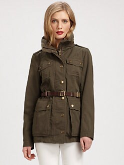 Burberry Brit - Leather-Belt Parka