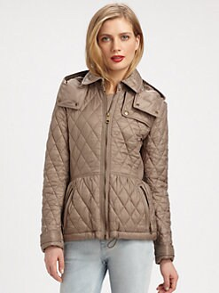 Burberry Brit - Cobfield Hooded Quilted Jacket