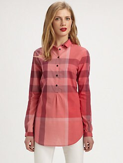 Burberry Brit - Cotton Check Tunic Top
