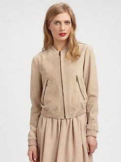 Burberry Brit - Suede Baseball Jacket