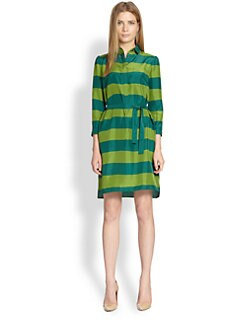 Burberry Brit - Silk Striped Shirtdress