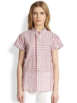 Burberry Brit - Check Half-Button Shirt